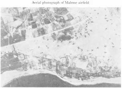Black and white photograph of an aerial view